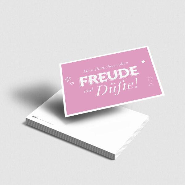 Postkarte Freude und Düfte [rosa]