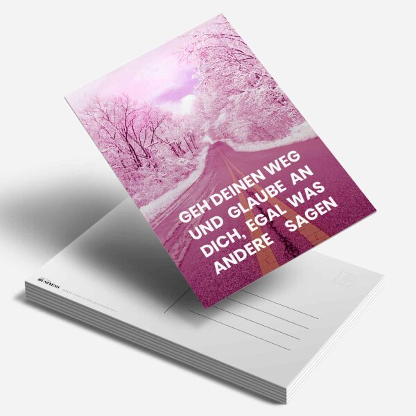 Postkarte Geh deinen Weg