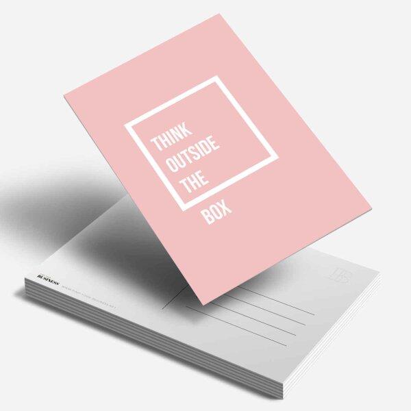 PostkarteThink outside the Box [rosa]