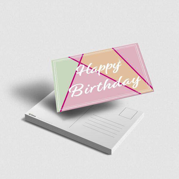 Postkarte Happy Birthday modern