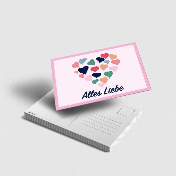 Postkarte Alles Liebe Herz