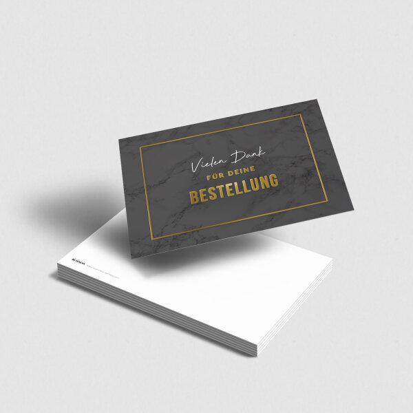 Postkarte Vielen Dank für deine Bestellung schwarz-gold