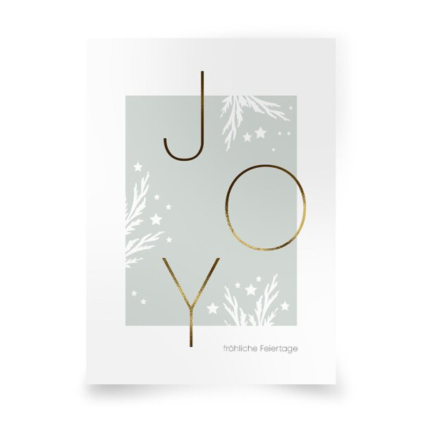 Postkarte JOY fröhliche Feiertage